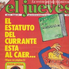 Coleccionismo de Revista El Jueves: REVISTA EL JUEVES. NÚMERO 129 DEL 14 AL 20 NOVIEMBRE 1979. Lote 89783932