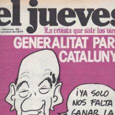 Coleccionismo de Revista El Jueves: EL JUEVES Nº 20 DEL 7 OCTUBRE 1977 . Lote 91973785