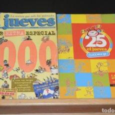 Coleccionismo de Revista El Jueves: DOS ESPECIALES DE LA REVISTA EL JUEVES. 25 AÑOS (2002) Y EL NUMERO 1000 (1996). Lote 92452835