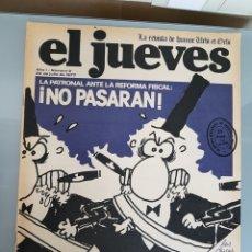 Coleccionismo de Revista El Jueves: EL JUEVES N° 9 1977 MUY DIFICIL. Lote 96936415