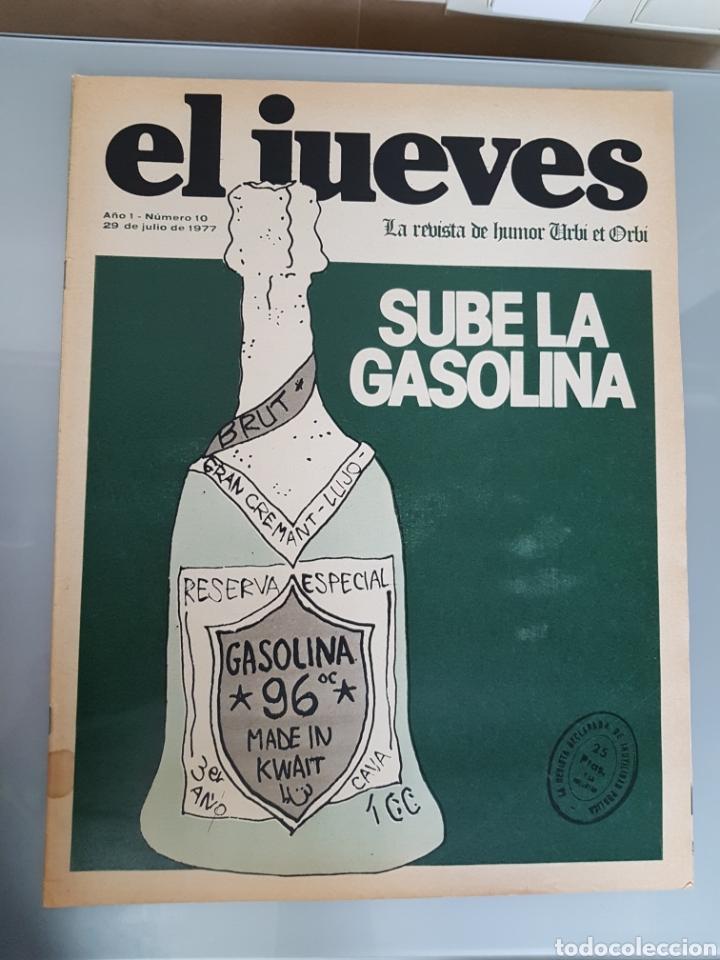 EL JUEVES N° 10 1977 MUY DIFICIL (Coleccionismo - Revistas y Periódicos Modernos (a partir de 1.940) - Revista El Jueves)