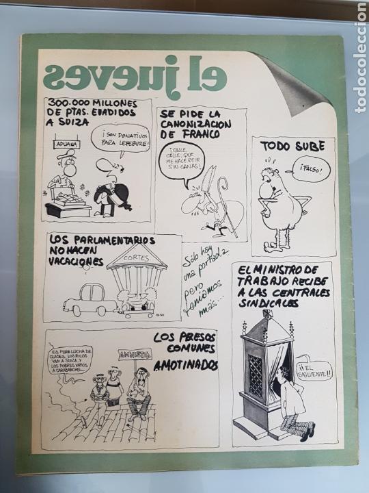Coleccionismo de Revista El Jueves: EL JUEVES N° 10 1977 MUY DIFICIL - Foto 2 - 96936998