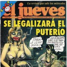 Coleccionismo de Revista El Jueves: EL JUEVES - Nº 914 - 30 NOVIEMBRE AL 6 DICIEMBRE 1994 - POSTER GONZALEZ Y GUERRA. Lote 98616291