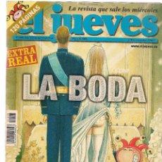 Coleccionismo de Revista El Jueves: EL JUEVES. Nº 1408. EXTRA LA BODA REAL. 25 MAYO 2004. (B/60). Lote 98691143