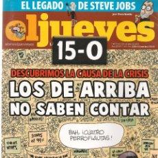 Coleccionismo de Revista El Jueves: EL JUEVES. Nº 1795. 25 OCTUBRE 2011. (B/60). Lote 98751183