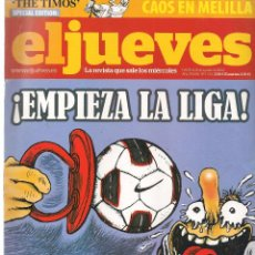 Coleccionismo de Revista El Jueves: EL JUEVES. Nº 1735. 31 AGOSTO 2010. (B/60). Lote 98751607