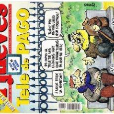 Coleccionismo de Revista El Jueves: EL JUEVES - Nº 1029 - 12 AL 18 FEBRERO 1997 - POSTER NICOLAS CAGE. Lote 98828459