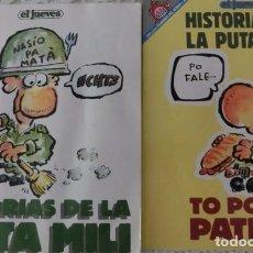 Coleccionismo de Revista El Jueves: HISTORIAS DE LA PUTA MILI (PENDONES DEL HUMOR). Lote 98961259