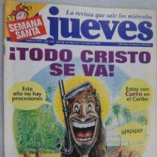 Coleccionismo de Revista El Jueves: EL JUEVES. LA REVISTA QUE SALE LOS MIÉRCOLES Nº 1035 ABRIL 1997. SEMANA SANTA. Lote 99537475
