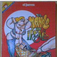 Coleccionismo de Revista El Jueves: PENDONES DEL HUMOR 102, EL MANOLO Y LA IRENE,MANEL FERRER, AÑO 1994. Lote 109538687