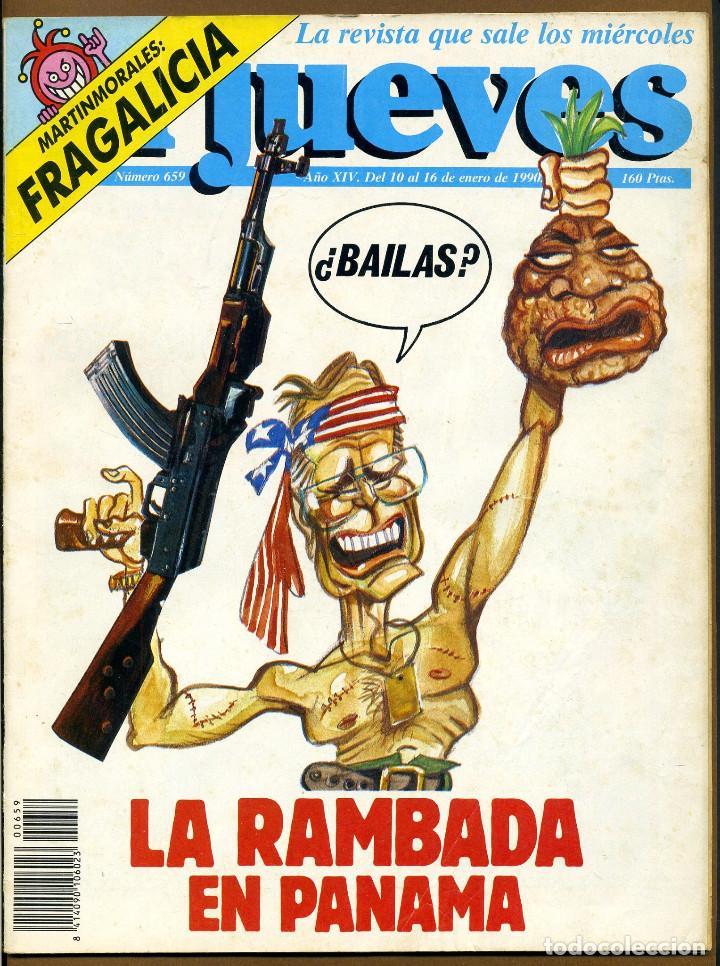 REVISTA - EL JUEVES Nº 659 AÑO 1990 (Coleccionismo - Revistas y Periódicos Modernos (a partir de 1.940) - Revista El Jueves)