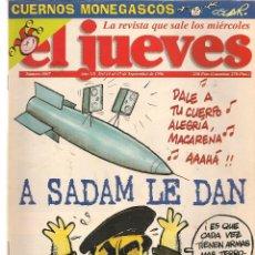 Coleccionismo de Revista El Jueves: EL JUEVES. Nº 1007. . 17 SEPTIEMBRE 1996. (P/B71). Lote 114892207