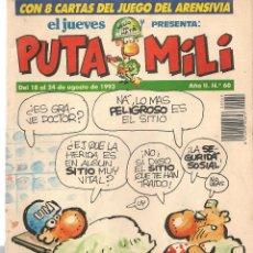 Coleccionismo de Revista El Jueves: EL JUEVES PRESENTA: PUTA MILI. Nº 60. 24 AGOSTO 1993. (P/B71). Lote 114892711
