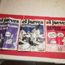 Coleccionismo de Revista El Jueves: EL JUEVES - NºS. 7 - 8 Y 9 - AÑO 1977 - SIN LEER - RESTOS DE TIENDA. Lote 115340767