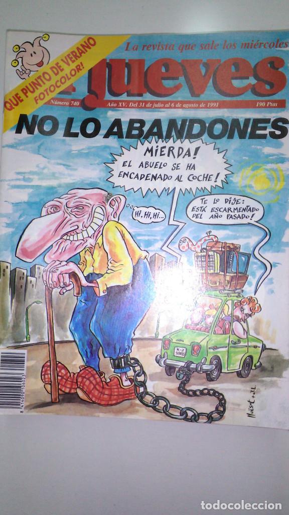 Coleccionismo de Revista El Jueves: REVISTA EL JUEVES. Lote de 99 Nº (Agosto 1991/ Marzo 2013) - Foto 2 - 116444099