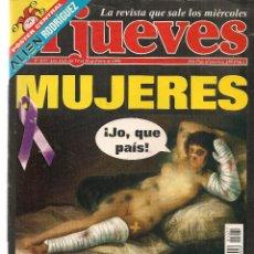 Coleccionismo de Revista El Jueves: EL JUEVES. Nº 1077. ¡CON SUPLEMENTO MANDA GÜEBOS! 20 ENERO 1998. (ST/REVISTAS)*. Lote 117005131