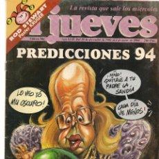 Coleccionismo de Revista El Jueves: EL JUEVES. Nº 866. 4 ENERO 1994. (ST/REVISTAS). Lote 117017579