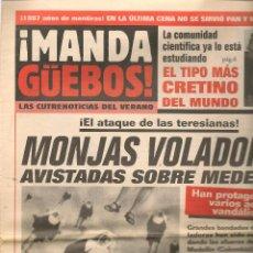 Coleccionismo de Revista El Jueves: EL JUEVES. SUPLEMENTO ¡MANDA GÜEBOS! DEL Nº 1052.(C/A12). Lote 118127399