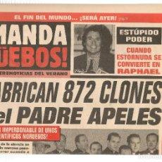 Coleccionismo de Revista El Jueves: EL JUEVES. SUPLEMENTO ¡MANDA GÜEBOS! DEL Nº 1055. (C/A12). Lote 118127459