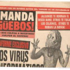 Coleccionismo de Revista El Jueves: EL JUEVES. SUPLEMENTO ¡MANDA GÜEBOS! DEL Nº 1091. (C/A12). Lote 118127579