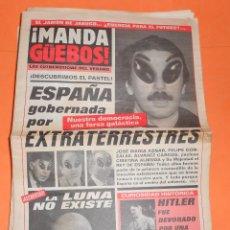 Coleccionismo de Revista El Jueves: ¡MANDA GÜEBOS! SUPLEMENTO DE EL JUEVES. 46 NUMEROS. ESTADO NORMAL. AÑOS 90.. Lote 119033399