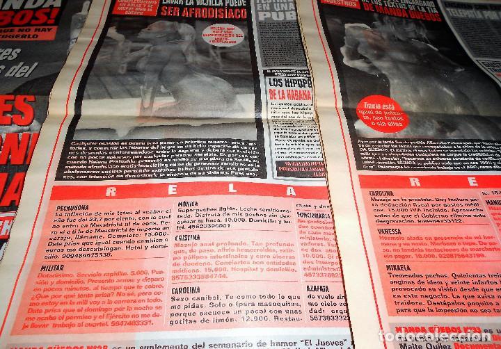 Coleccionismo de Revista El Jueves: ¡MANDA GüEBOS! SUPLEMENTO DE EL JUEVES. 46 NUMEROS. ESTADO NORMAL. AÑOS 90. - Foto 4 - 119033399