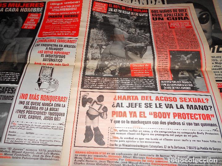 Coleccionismo de Revista El Jueves: ¡MANDA GüEBOS! SUPLEMENTO DE EL JUEVES. 46 NUMEROS. ESTADO NORMAL. AÑOS 90. - Foto 5 - 119033399