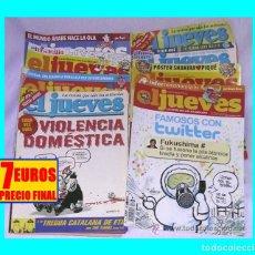 Coleccionismo de Revista El Jueves: EL JUEVES - LOTE DE 8 NÚMEROS - 1396 - 1422 - 1457 - 1665 - 1757 - 1759 - 1767 - 1771 - 7 EUROS. Lote 119915003