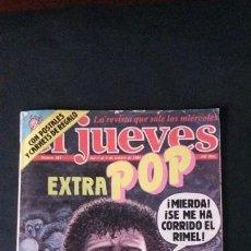 Coleccionismo de Revista El Jueves: REVISTA EL JUEVES Nº 384-1984-EXTRA MÚSICA POP-MICHAEL JACKSON-ELVIS PRESLEY-ORQUESTA MONDRAGON. Lote 124497499