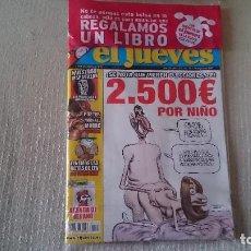 Coleccionismo de Revista El Jueves: EL JUEVES NUMERO CENSURADO NÚMERO 1537 DEL 18 AL 24 DE JULIO 2007 NUEVO SIN ABRIR. Lote 125363331