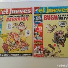 Coleccionismo de Revista El Jueves: LOTE DE 2 REVISTAS EL JUEVES AÑO 2007 NÚMEROS 1577 Y 1782. Lote 125447819