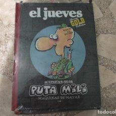 Coleccionismo de Revista El Jueves: EL JUEVES LUXURY GOLD COLLECTION,HISTORIAS DE LA PUTA MILI,MAQUINAS DE MATAR IVA. Lote 128512735