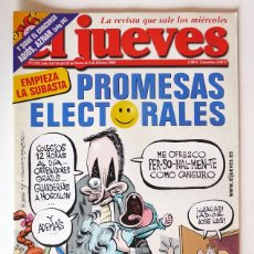 Coleccionismo de Revista El Jueves: EL JUEVES - Nº 1392 - ENERO 2004 - PROMESAS ELECTORALES - POSTER ROA. Lote 128527775