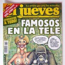 Coleccionismo de Revista El Jueves: EL JUEVES - Nº 1393 - FEBRERO 2004 - FAMOSOS EN LA TELE - POSTER MILITO. Lote 128527883
