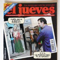 Coleccionismo de Revista El Jueves: EL JUEVES - Nº 1394 - FEBRERO 2004 - CAROD EL SUPER VILLANO - POSTER ESNAIDER. Lote 128528239