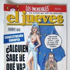 Coleccionismo de Revista El Jueves: EL JUEVES - Nº 1442 - ENERO 2005 - CONSTITUCIÓN EUROPEA - POSTER SNOOP DOGG. Lote 128628783