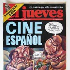 Coleccionismo de Revista El Jueves: EL JUEVES - Nº 1444 - ENERO 2005 - CINE ESPAÑOL - POSTER LUCHA A MUERTE POR LA AUDIENCIA. Lote 128628991