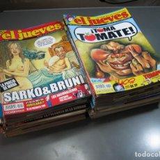 Coleccionismo de Revista El Jueves: EL JUEVES .REVISTA SATÍRICA.LOTE DE 99 NÚMEROS ( DEL Nº 1599 AL Nº 1694 ). Lote 130301586