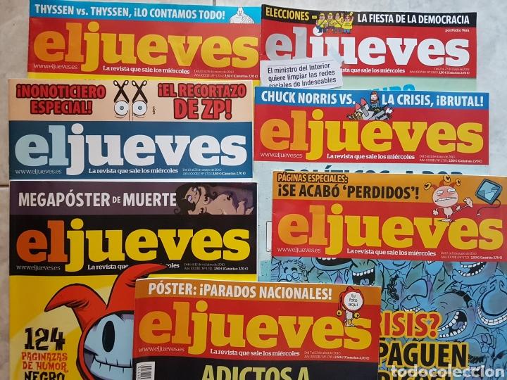 LOTE 7 REVISTAS EL JUEVES (Coleccionismo - Revistas y Periódicos Modernos (a partir de 1.940) - Revista El Jueves)
