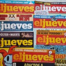Coleccionismo de Revista El Jueves: LOTE 7 REVISTAS EL JUEVES. Lote 130632278