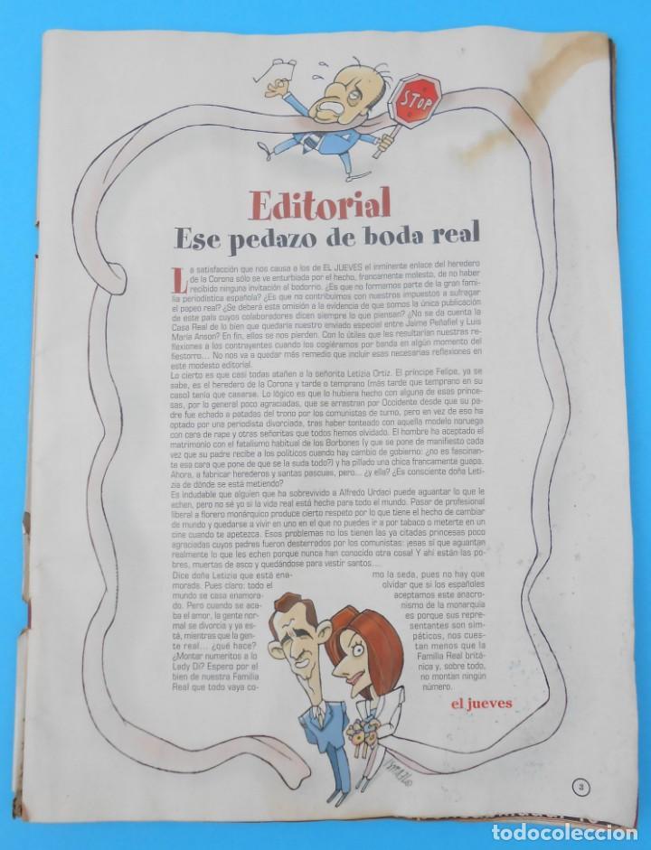Coleccionismo de Revista El Jueves: Revista El Jueves - El EXTRA REAL. La Boda. Núm. 1408, de Mayo de 2004. Muy rara y buscada. - Foto 2 - 133832426
