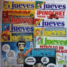 Coleccionismo de Revista El Jueves: LOTE 9 REVISTAS EL JUEVES (1998). Lote 136262156