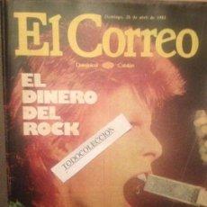 Coleccionismo de Revista El Jueves: EL CORREO DOMINICAL 26-04-81:DAVID BOWIE,SALVADOR DALI,MARIA CASARES,CEMENTERIOS BARCELONA,. Lote 138541218