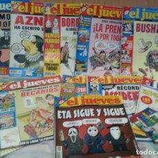 Coleccionismo de Revista El Jueves: REVISTAS EL JUEVES. AÑO 2007. 12 UNIDADES DIFERENTES.. Lote 139408174