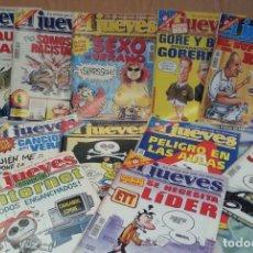 Coleccionismo de Revista El Jueves: REVISTAS EL JUEVES. AÑO 2000. 12 UNIDADES DIFERENTES.. Lote 139427066