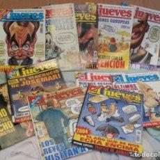 Coleccionismo de Revista El Jueves: REVISTAS EL JUEVES. AÑO 2004. 12 UNIDADES DIFERENTES.. Lote 140709674