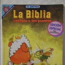 Coleccionismo de Revista El Jueves: LA BIBLIA CONTADA A LOS PASOTAS. POR JOSE LUIS MARTIN. EL JUEVES. COLECCION PENDONES DEL HUMOR Nº 49. Lote 140839242