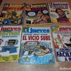 Coleccionismo de Revista El Jueves: EL JUEVES GRAN LOTE 116 UNIDADES, AÑOS 80, 90, Y ALGUNO 2000, CON POSTERS. Lote 141864282
