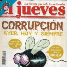 Coleccionismo de Revista El Jueves: == CN62 - REVISTA - EL JUEVES - CORRUPCIÓN AYER , HOY Y SIEMPRE - MARZO 1999. Lote 143246230