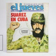 Coleccionismo de Revista El Jueves: PUBLICACIÓN / REVISTA - EL JUEVES Nº 68 / SUAREZ EN CUBA - SEPTIEMBRE DE 1978. Lote 143586016